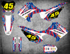 Honda CRF 110 graphics with free shipping in Australia, image shows 2013 2014 2015 2016 2017 2018 models.