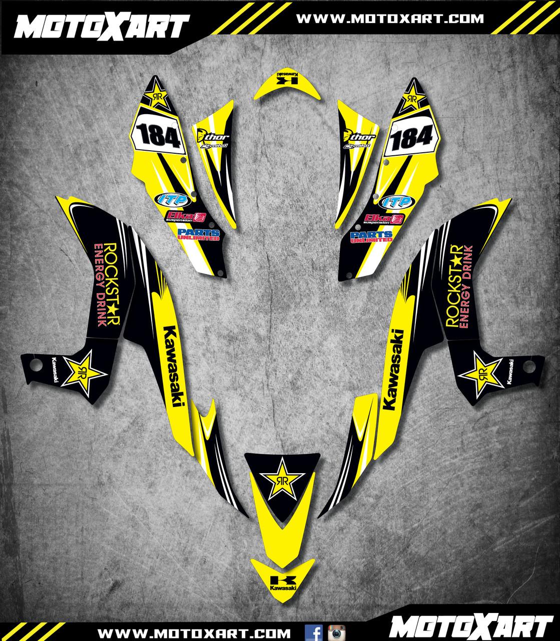 QUAD ATV Full custom graphics kit HORNET Style Sticker Kit