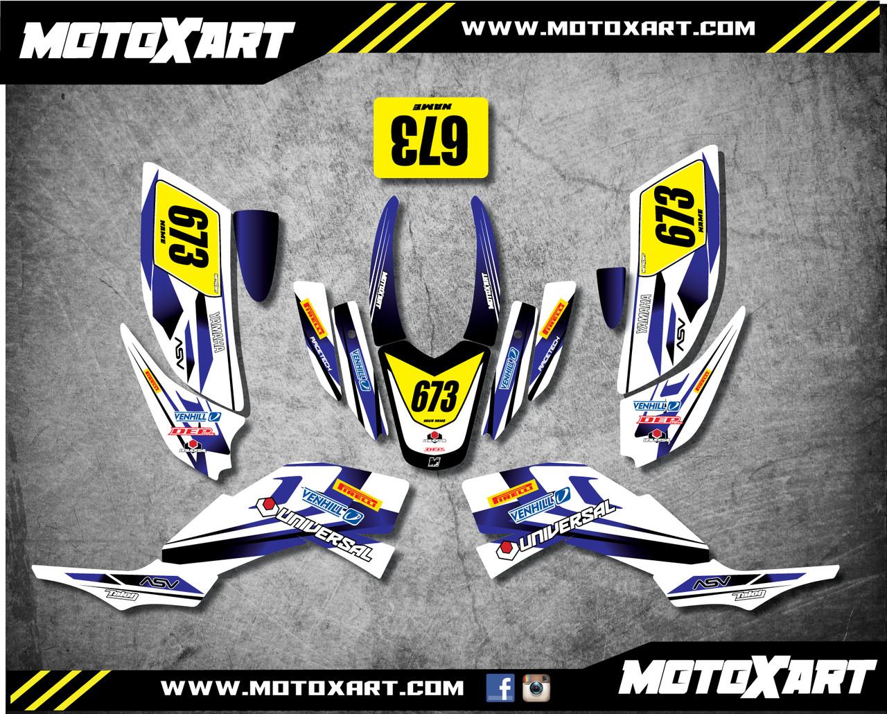 QUAD ATV Full custom graphics kit Storm Style Sticker Kit - MotoXart