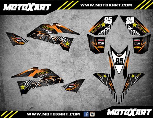 QUAD ATV Full custom graphics kit KTROCK Style Sticker Kit