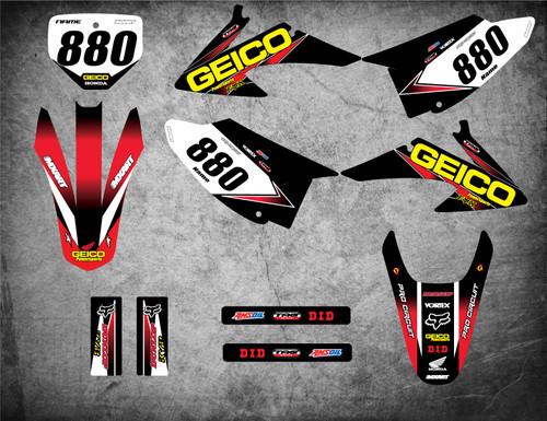 Image shows HONDA CRF 150 F CRF 230 F 2008 2009 2010 2011 2012 2013 2014 graphics decal kit sticker kit Australia