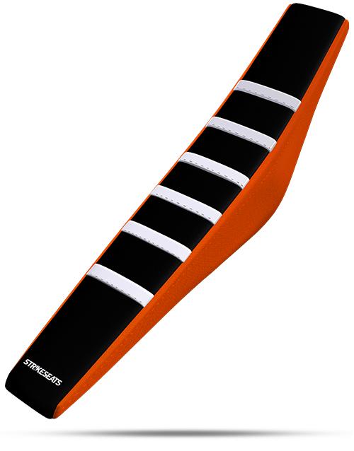 KTM Gripper Ribbed - White/Black/Orange