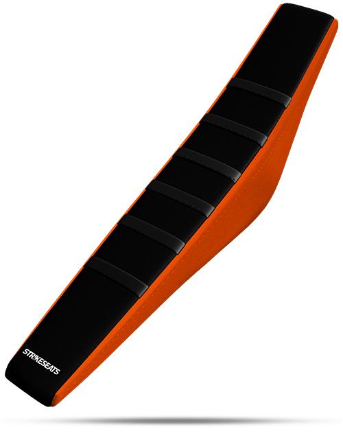 KTM Gripper Ribbed - Black/Black/Orange