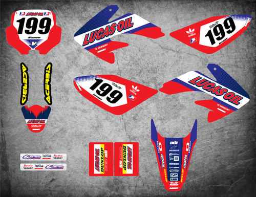 Honda CRF 70/80/100 Full Graphics Kit ACTIVE Style