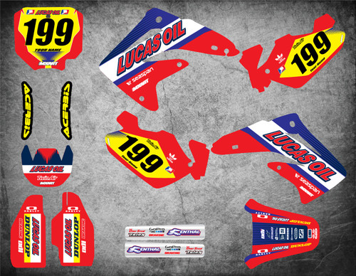 Image shows HONDA CR 85 2003 2004 2005 2006 2007 2008 2009 2010 2011 2012 model decal kit