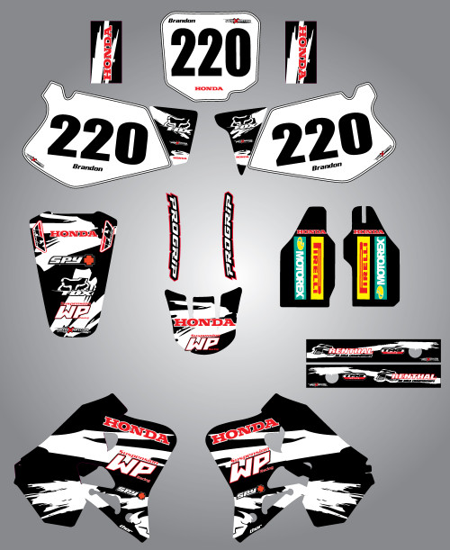 Honda CRF 70/80/100 Full Graphics Kit Safari Style
