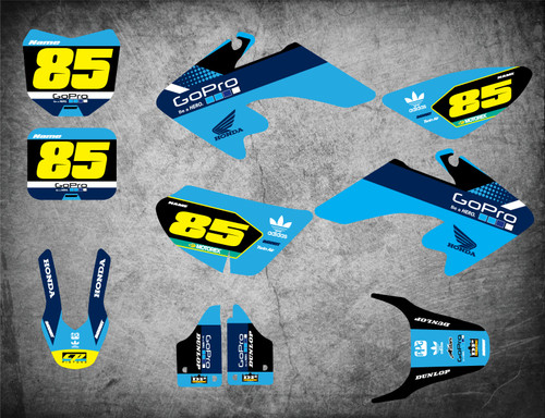 Honda CRF 50 full sticker kit Australia suits models 2004 2005 2006 2007 2008 2009 2010 2011 2012 2013 2014 2015 2016 2017 2018 2019 2020