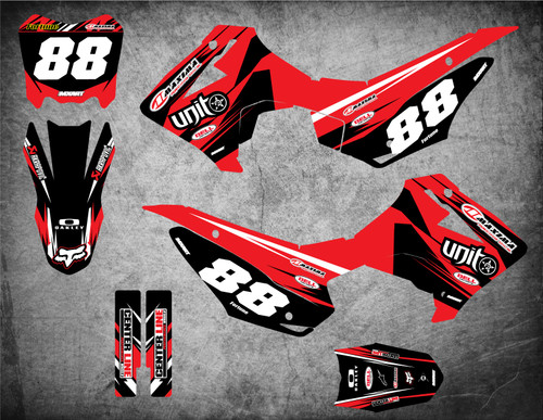 Honda CRF 110 2013 2014 2015 2016 2017 2018 full custom sticker kit free shipping in Australia