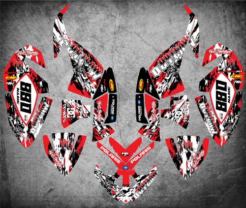 QUAD ATV Full custom graphics kit OUTLAW Style Sticker Kit