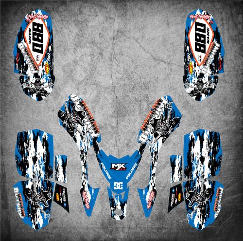 Polaris Outlaw 50 Polaris Outlaw Predator 50 full graphics kit with free shipping on all Australian Polaris 50 decal wraps