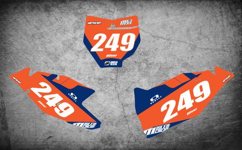 KTM JOLT style number plate graphics $59.90 - $79.90