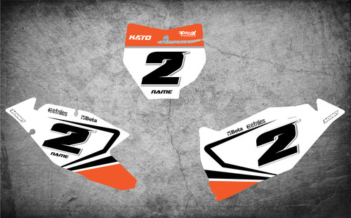 KTM Sprint style decals for all KTM models image shows KTM SX SXF 2016 2017 2018 grapgics. Free shipping Australia.
