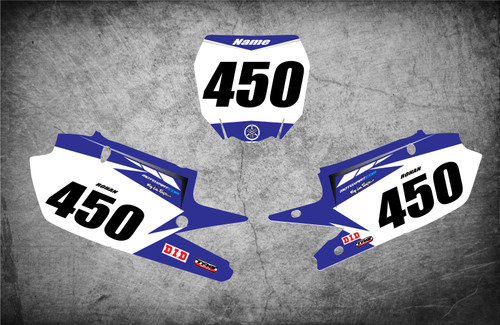 Yamaha PREMIER style number plate graphics kits Australia. Premium grade materials, super fast turnaround, Australias largest supplier of graphics to the dirt bike industry.