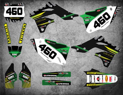 Kawasaki graphics kits Australia, PRO grade materials, fast turnaround, free shipping on all Kawasaki decal kits in Australia.