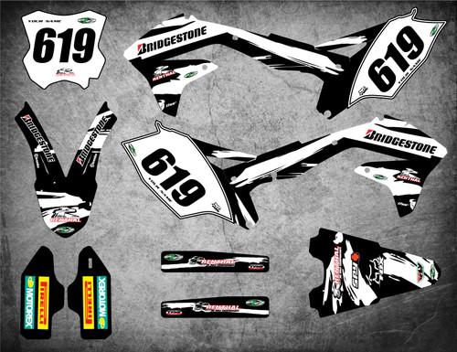 Kawasaki off road graphics kits Australia. Premium quality kawasaki sticker kits. SAFARI style.