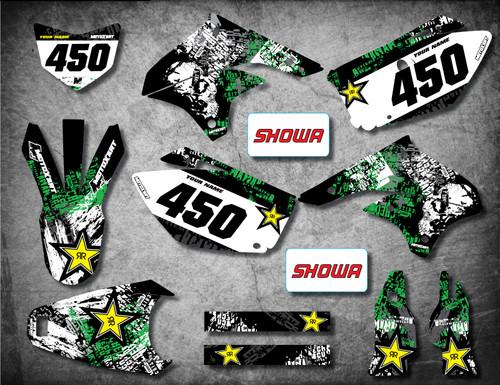 Kawasaki KLX graphics kits Australia. Premium quality kawasaki sticker kits. GRAFFITI style decals.