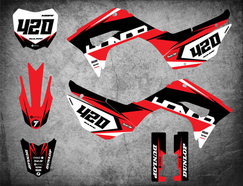 Honda CRF 110 graphics kits Australia. Free shipping on all our CRF 110 decals.