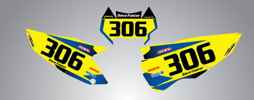 Husaberg 125cc + Storm Style Number Plates