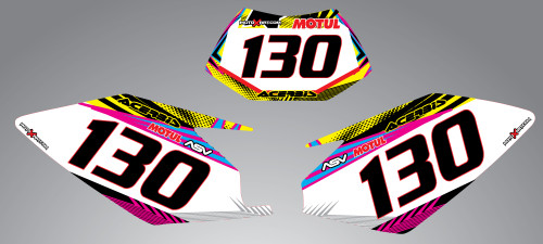 Husaberg 125cc + Neon Style Number Plates
