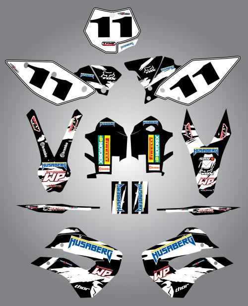 Husaberg 125cc + Safari Style Full Kit