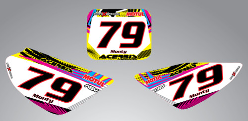 CRF 50 Neon style number plates