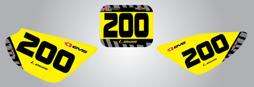 CRF 50 Factory style number plates