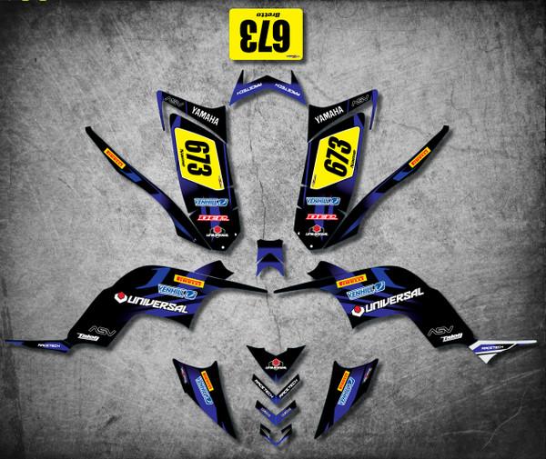 QUAD ATV Full custom graphics kit Storm Style Sticker Kit