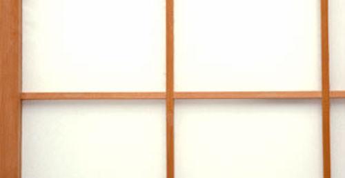 Sample image B21 Shoji Paper White Plain on a shoji screen closeup
