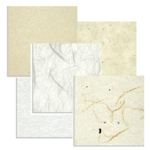 Hi-tec paper samples polyester core white plain cloud dragon natural twine & bark texture fibers