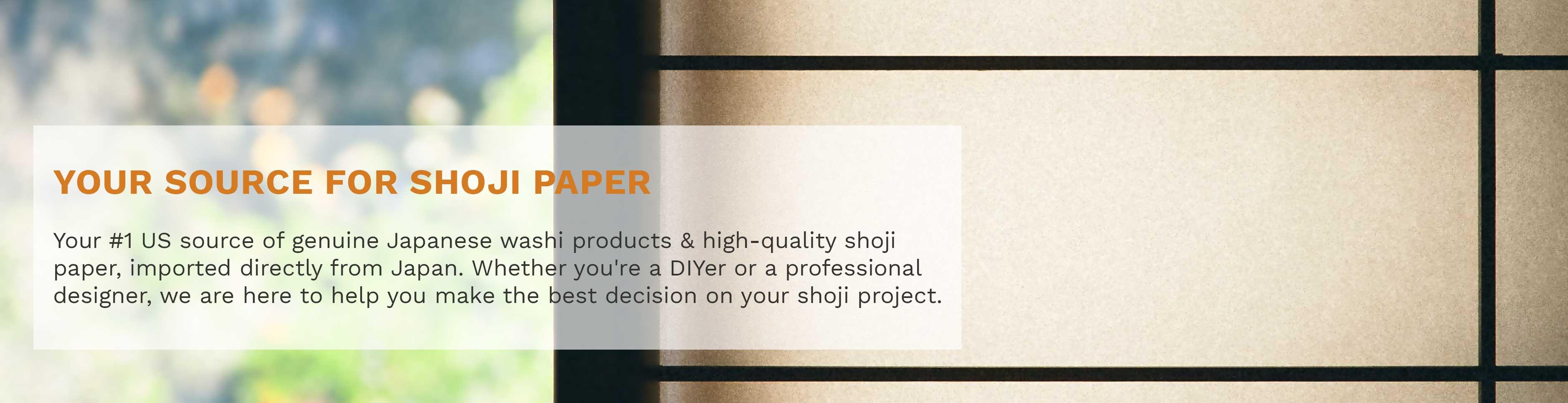 Shop our basic Japanese Shoji paper.
