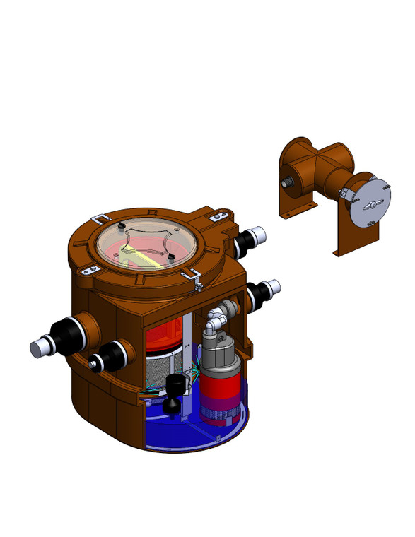 GS-40-2SP, Immediate Release Greywater Processor, 40 Gallon, 2 Stage Pump, 115V 540W