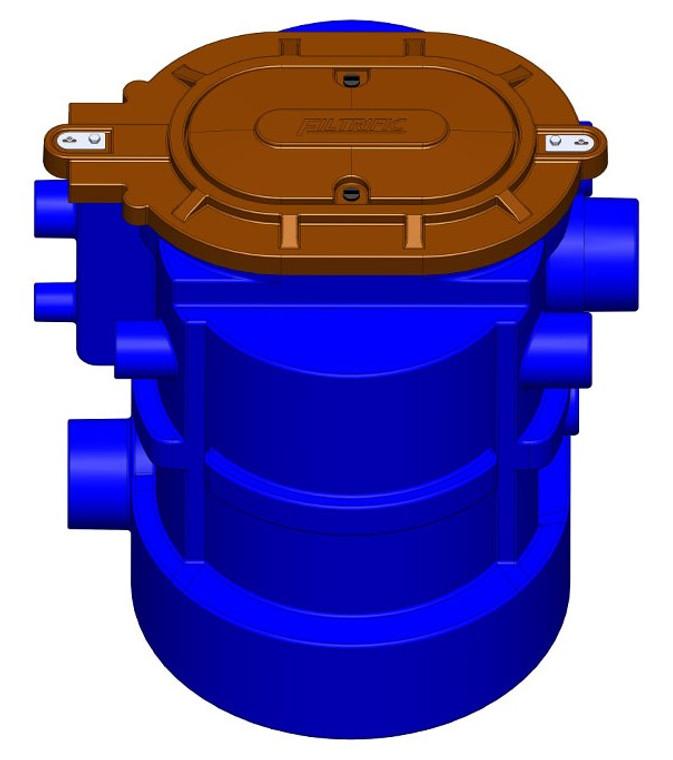 RW75-2424, 75 Gallon Filter, 2-24 Mesh Filter Bskets