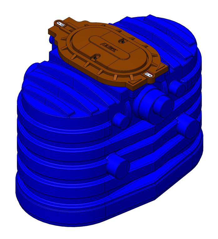 RW390-2020, 390 Gallon Rainwater Filter, 2-20 Mesh Filter Basket