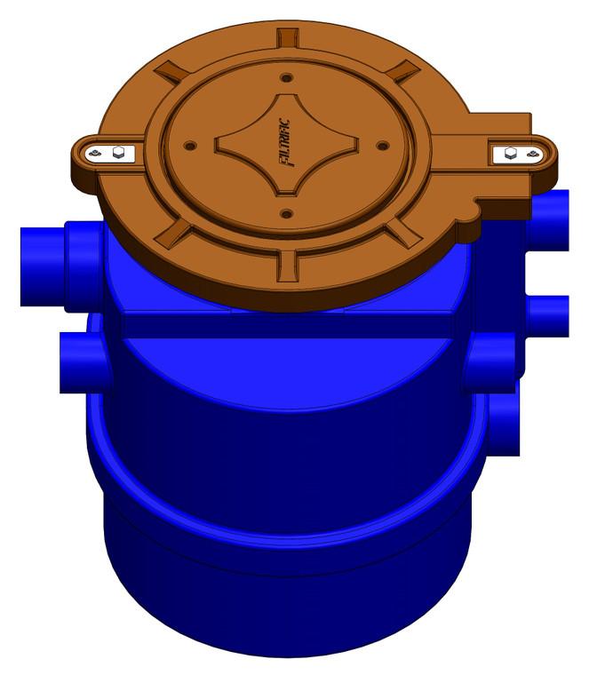 RW40-24, 40 Gallon Rainwater Filter, 24 Mesh Filter Basket