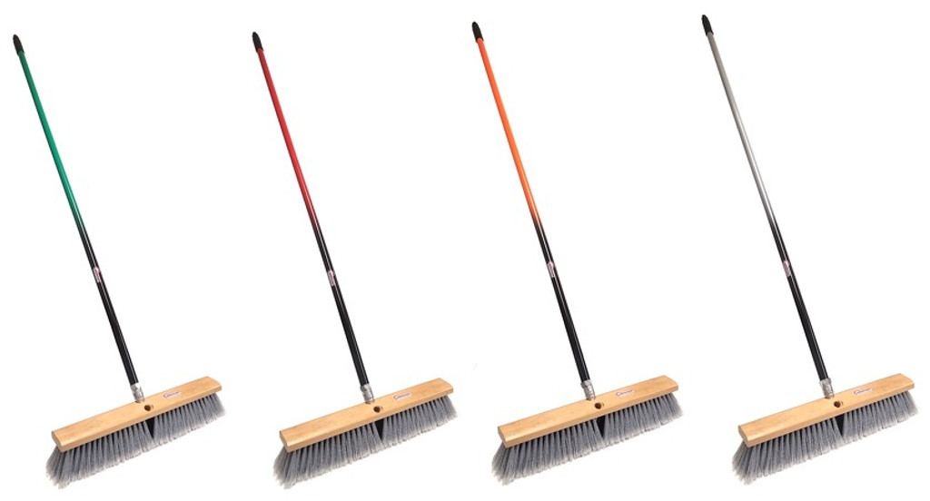 push broom with two color handle