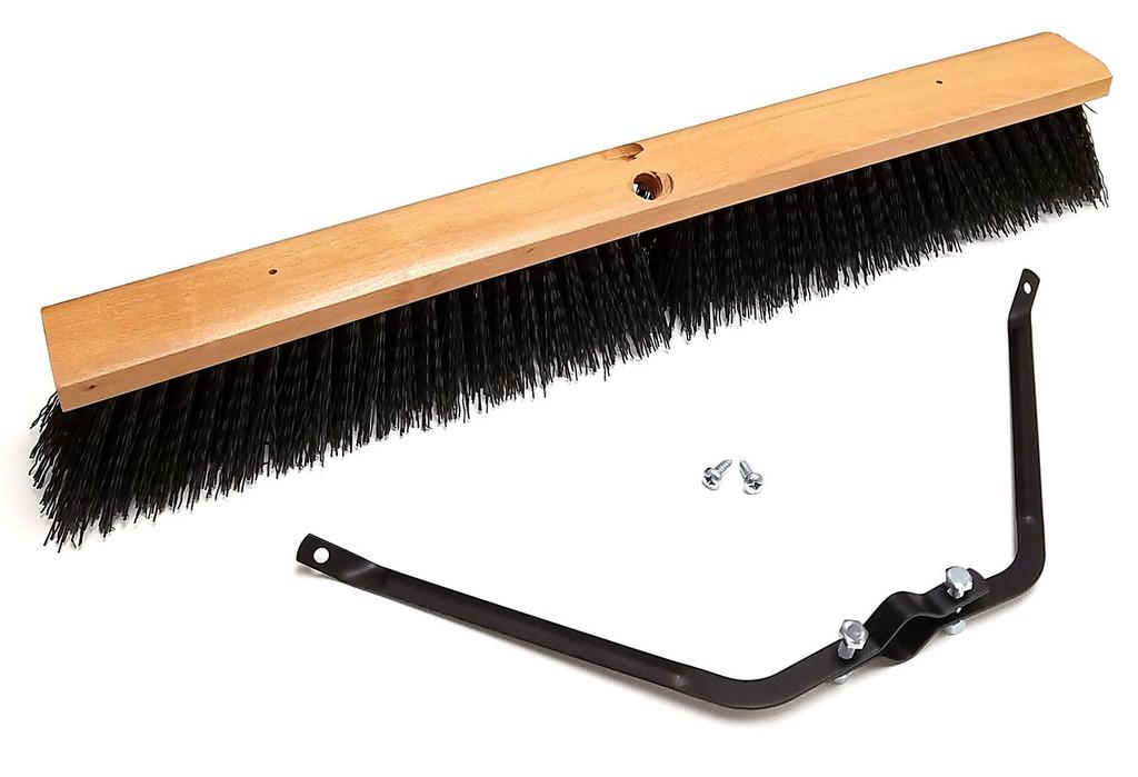 wooden push broom head