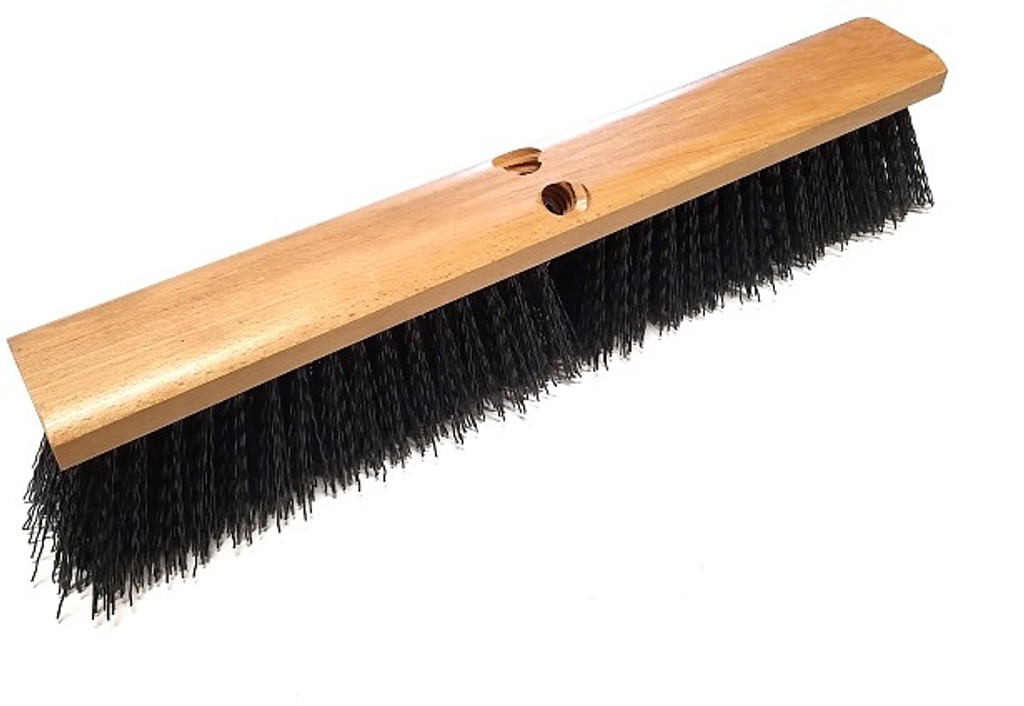 Wooden push broom head