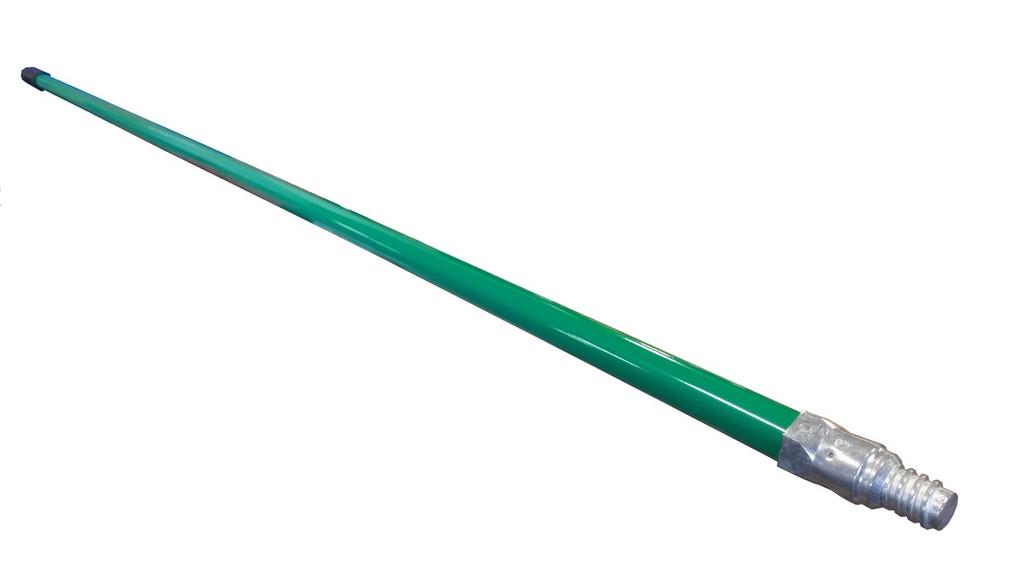 """60"""" metal tip green broom handle"""