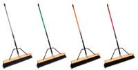 push broom with brace