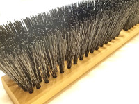 Rough surface push broom head