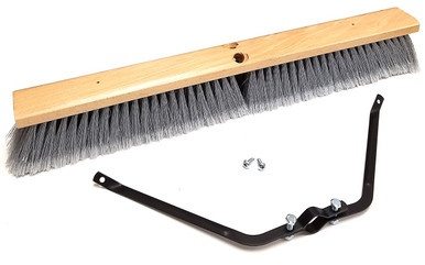 24 Smooth Surface Push Broom Head With Broom Brace Case