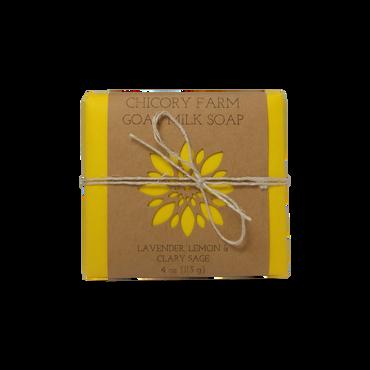 Lavender, lemon & clary sage goat milk soap