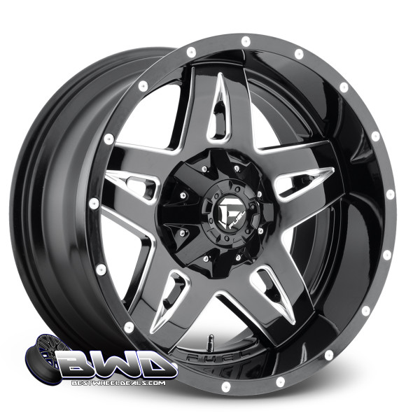 "18"" Fuel Full Blown D554 Gloss Black"