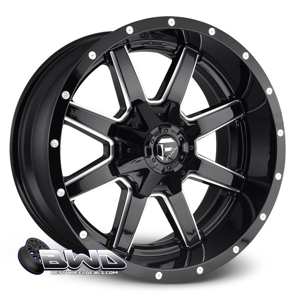 "20"" Fuel Maverick D610 Gloss Black"