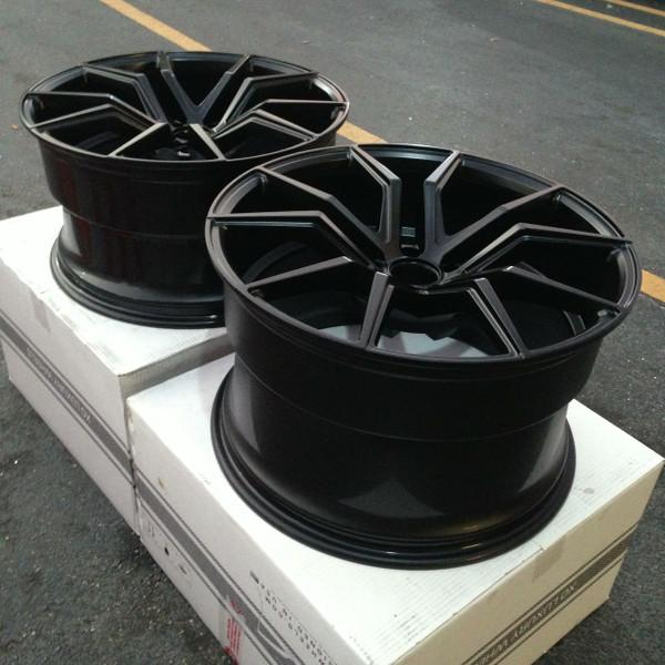 CUSTOM PRODUCT: XO Verona Satin Black 20x10.5, 20x12 Complete Wheel-Tire Package