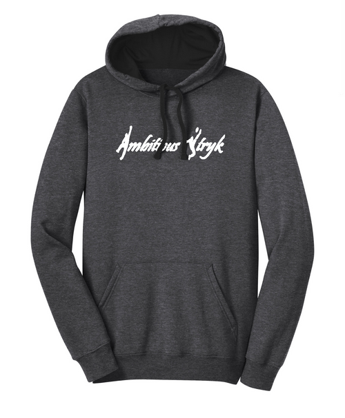 Ambitious Stryk Cotton Hoodie -Front Pocket - Charcoal