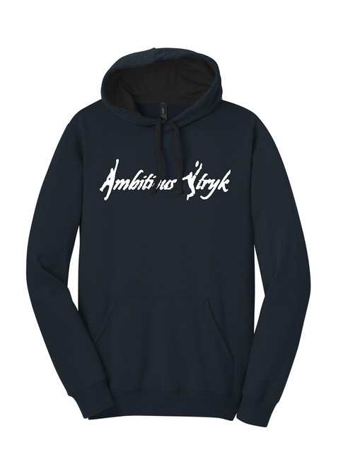 Ambitious Stryk Cotton Hoodie - Front Pocket - Navy