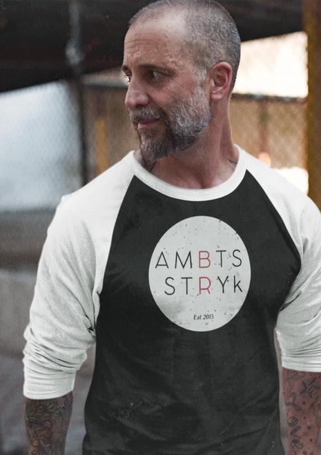AMBTS White Circle - Raglan 3/4 Sleeve Shirt