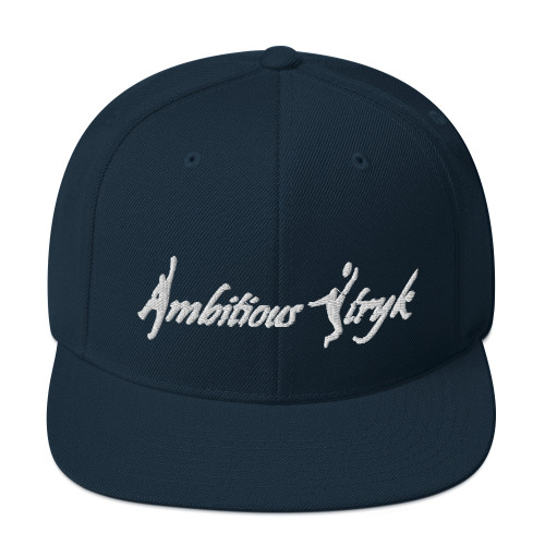 Ambitious Stryk Embroidered White Logo - Snapback Hat