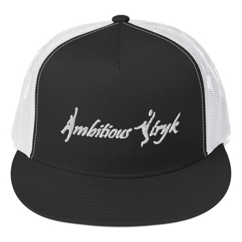 Ambitious Stryk Embroidered White Logo - Trucker Hat